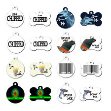 Cute Scan Me I'm Chipped Pet Dog ID Tag For Collar