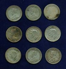 CANADA  10 CENTS: N.D.,1918,1921,1932,1937,1943,1962