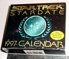 STAR TREK 1997 DESK CALENDAR UNUSED