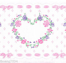 Purple Muted Pastel Floral Wallpaper Border Green  W1115 Blue Pink