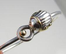 Tiffany & Co Sterling Silver Body & 18k Yellow Gold Scarab Hook & Eye Bracelet