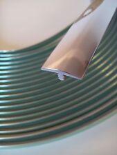 6m Stegkante T-Molding 20mm breit PVC chrom mit Schutzfolie