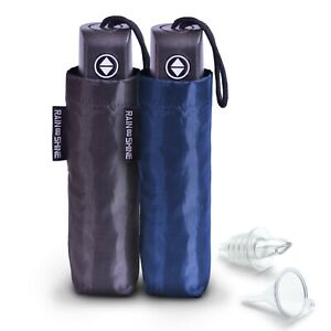 GoPong Rain or Shine Umbrella Flask 2 Pack | Hidden Alcohol Booze Bottles