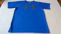 Under Armour 1228803 Boys Big Logo Tech Tee -  Blue -    Youth X Large - clean