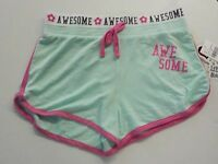GIRL'S SIZE XL LOVE PEACE & LIPGLOSS BRAND MINT ACTIVE SHORTS NEW NWT #747