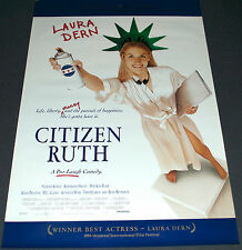 CITIZEN RUTH 1996 ORIGINAL 27x40 MOVIE POSTER! LAURA DERN COMEDY DRAMA!