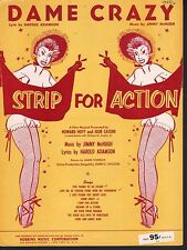 Dame Crazy Strip For Action Sheet Music
