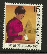 Japan Scott #1054, Single 1971 Complete Set FVF MH