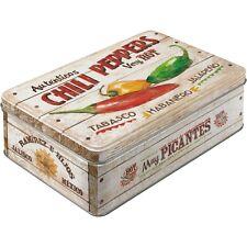 Scatola in Latta richiudibile contenitore Chili Peppers