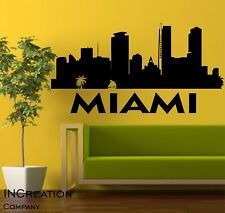 Florida Miami Skyline Vinyl Wall Decal Wall Sticker Man cave Bedroom Removable