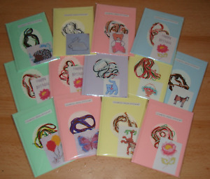 Counted Cross Stitch Card Kit.Various Designs. New & Unused