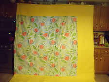 BEAUTIFUL, BRIGHT YELLOW BORDER, CORAL FLOWER DESIGN QUILT - FULL/QUEEN SIZE #48