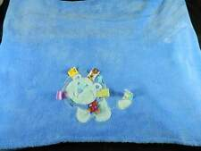 Taggies Lion Blue Baby Blanket Plush Velour Material Taggies Tabs Very Nice