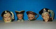 Royal Doulton Toby Jugs (4) Vintage Character Mugs England * Vgc *