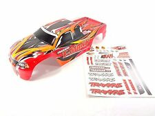 NEW TRAXXAS T-MAXX 2.5 4910 PAINTED RED BODY SHELL WITH DECAL SHEET TMAXX .15