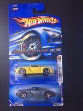 HOT WHEELS PORSCHE CARRERA GT SET OF 2 #155 008 YELLOW & GREY HTF LOT 2006 2009