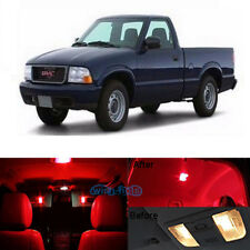 9Pcs Red LED Lights Interior Lamp Package Kit For 1998-2003 GMC Sonoma+Tool