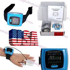US Wrist Fingertip Pulse Oximeter 24h Sleep SpO2 PR Monitor,Alarm,SW+Adult Probe