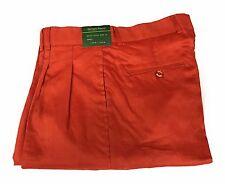 """Giorgio Inserti Linen Pleated pants """"Rust  (Size: 32)"""