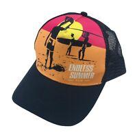 Endless Summer Rum Mens Adjustable Snapback Trucker Mesh Hat Black Cap