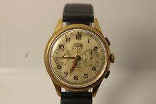 OVERSIZE orologio da polso cronografo da polso vintage anni 40 wristwatch silver