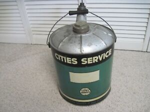 RARE VINTAGE CITES SERVICE 5 GAL. MOTOR OIL CAN VERY CLEAN DISPLAYABLE CAN
