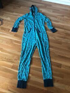 Jumpsuit Pyjama Onesie türkis Gr. M getragen