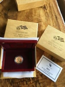 2011 W  Gold Lucretia  Garfield  PROOF w Mint COA and Box First Spouse