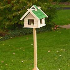 Großes Vogelhaus Vogelfutterhaus Vogelhäuser Vogelhäuschen Holz Grün Vogelvilla