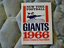 1966 NEW YORK GIANTS MEDIA GUIDE Press Book Program NFL Football Yearbook NY AD