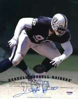 Darrell Russell Psa Dna Coa Autographed Leaf 8x10 Photo  Hand Signed Authentic