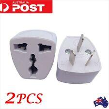 2X   UK/US/EU Universal to AU AUS Australian Power Plug Adapter 3 pin Converter