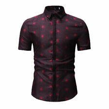 Men's Slim Fit V Neck Short Sleeve Stylish Formal Tee T-shirt Casual Tops Shirts