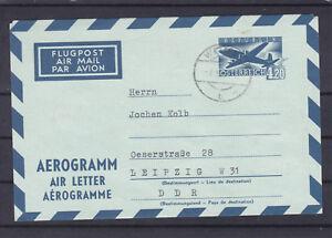 Aerogramm von Wien nach Leipzig