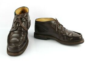 Paraboot Derby Shoes Made IN France Brown Leather Stitched Norwegian T 5 /Fr 38