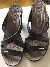Crocs Brown Heeled Sandals Size UK 7 US 9