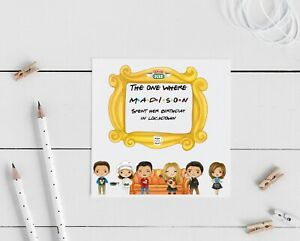 Personalised Friends Lockdown birthday card- the one where