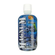 Magnum Detox 1 Hour System Cleanser Blueberry Flavored 32oz FREE 2-3 SH