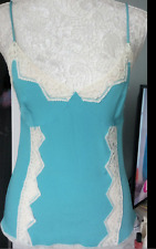 Gorgeous Dolce & Gabbana Turquoise Lace Trim Cami Bustier Corset Top 40 2 XS 4