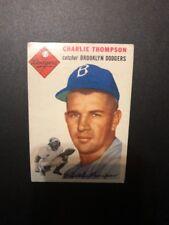 1954 Topps #209 Charlie Thompson Card.