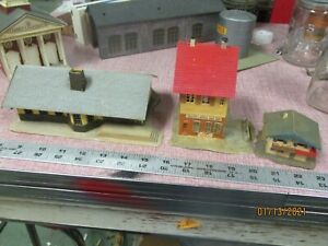 Mixed lot of  6 Vintage HO Scale Model Train Railroad Accessory Building