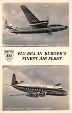 British European Airways Viscount and Elizabethan Real Photo Postcard J68826