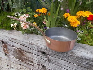 Lovely Large Lined French Vintage Copper Pan YR1/26