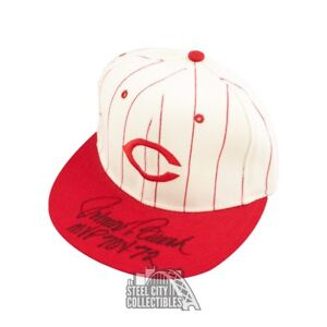 Johnny Bench MVP 70 & 72 Autographed Cincinnati Reds Baseball Cap Hat - BAS COA