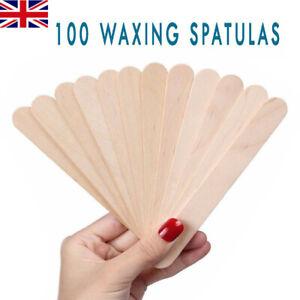 100x Spatulas Professional  Disposable Wooden Waxing Wax Sticks UK