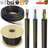 Black Flex Cable 2 Core -  4 Core Round Electrical Cable 0.5mm - 2.5mm 240V
