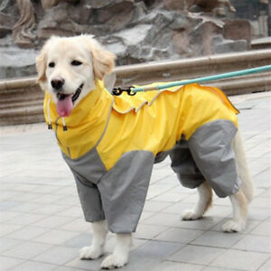 Dog Raincoat Outdoor Hoody Jacket Pet Rain Coat Clothes Small Medium Extra Large