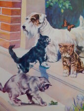 Vintage Sealyham Terrier Dog 1939 Children's Book Illustration Victor Becker