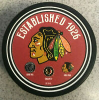 Chicago Blackhawks Heritage 3D Textured Hockey Puck - Established 1926 - NEW