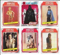 (6) 1980 Topps Empire Strikes Back Leia Lando Calrissian RC Star Wars #8 LOT